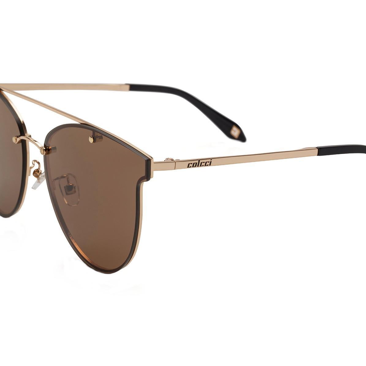 35a3ee3b2e2 Óculos de Sol Colcci Feminino C0103 A34 02 - Metal Dourado e Lente Marrom  R  470