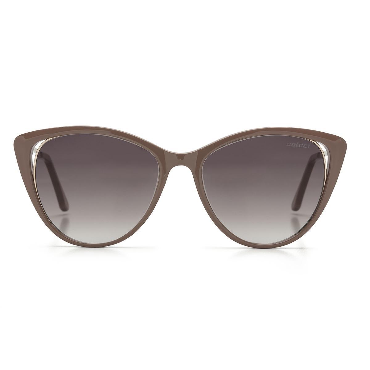 71a9ff110833c Óculos De Sol Colcci Valentina C0123 Nude Lente Marrom Degradê R  399