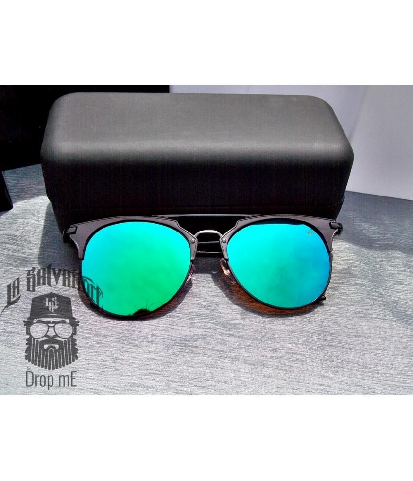 c00d889ce04c5 Oculos de sol drop me las aviador gatinho metal preto espelhado verde -  Drop me acessorios R  279