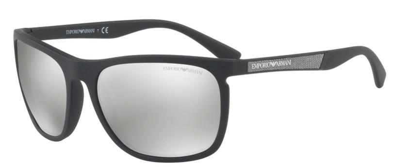 1aa172d73 Óculos de Sol Emporio Armani EA4107 5042 Preto Fosco Lentes Prata Espelhadas  Produto não disponível