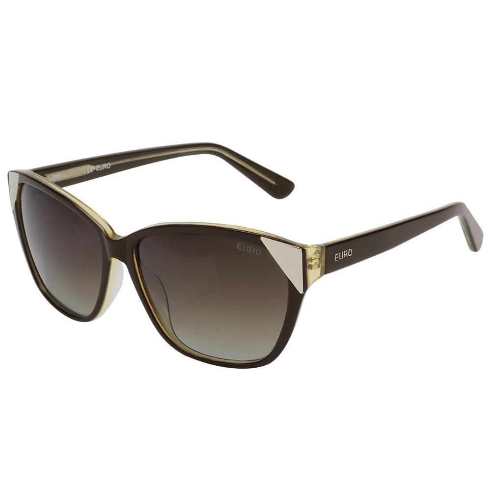 Oculos de Sol Feminino Euro OC098EU 8M - Marrom - Acessórios de moda ... d7ad3376dd