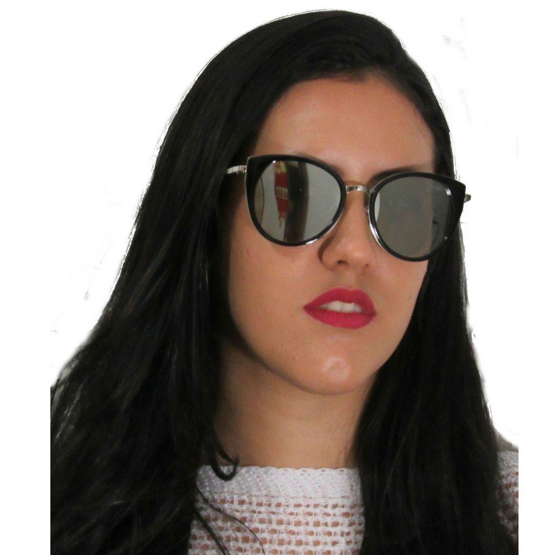 a7bc98125 Oculos de Sol Feminino Gatinho Preto Espelhado - Minha nova biju R$ 149,90  à vista. Adicionar à sacola