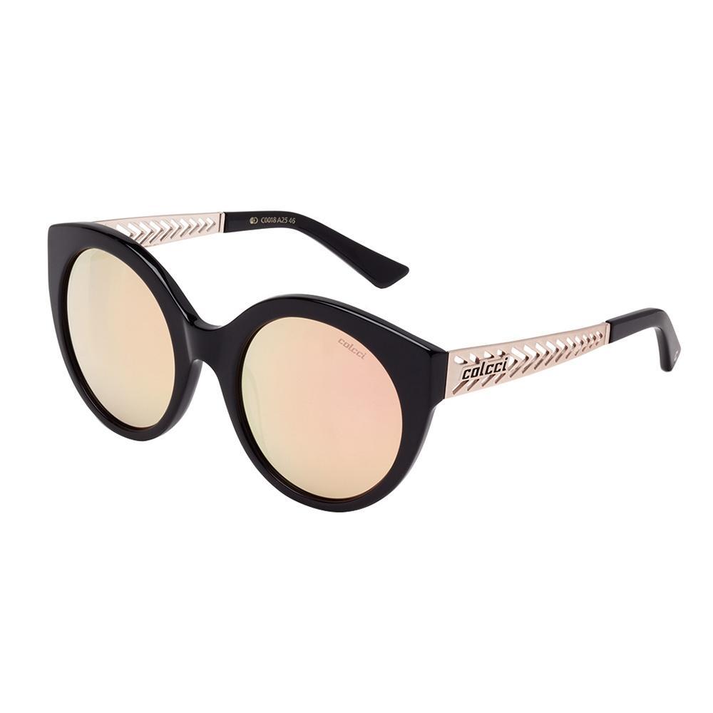 Óculos De Sol Feminino Preto Brilho Com Lente Marrom C0018 Colcci Produto  não disponível c5c2cdafec