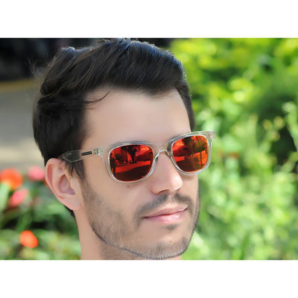 4c422a01538c7 Óculos de Sol Jackdaw 29 Translúcido Semi Espelhado Grilamid R  199