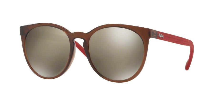 afeb4630c3fb0 Óculos de Sol Kipling KP4052 F605 Marrom Translúcido Vermelho Lente  Espelhada Ouro Tam 53 R  229