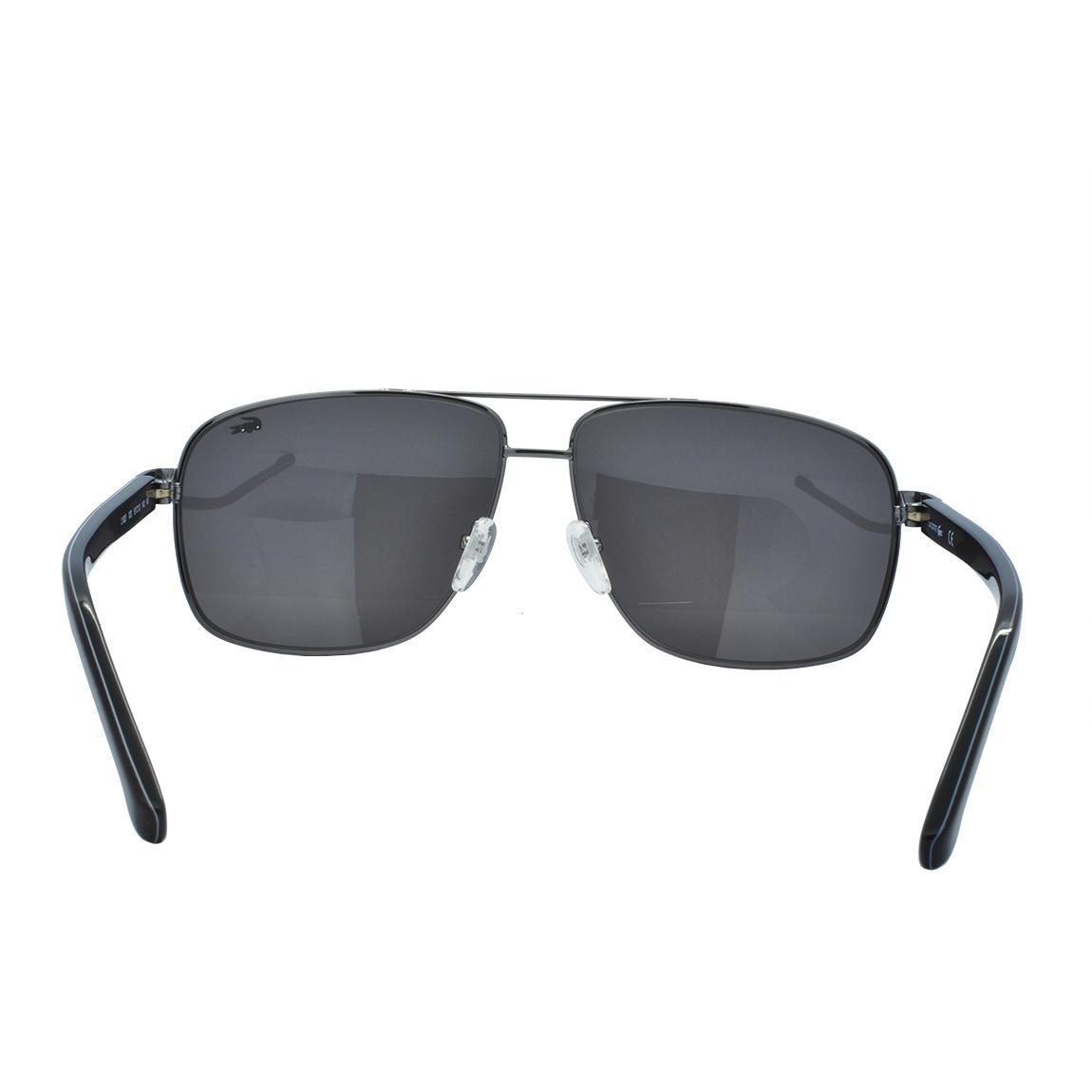 77fc5f9e89ae2 Óculos de Sol Lacoste Masculino L162S 033 - Metal Preto - Óculos de ...