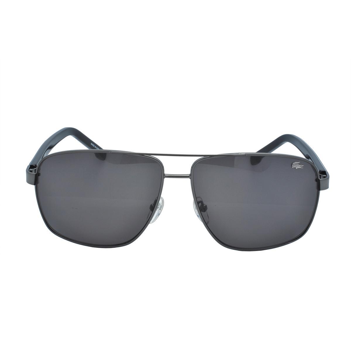 77566df4b9a06 Óculos de Sol Lacoste Masculino L162S 033 - Metal Preto - Óculos de ...