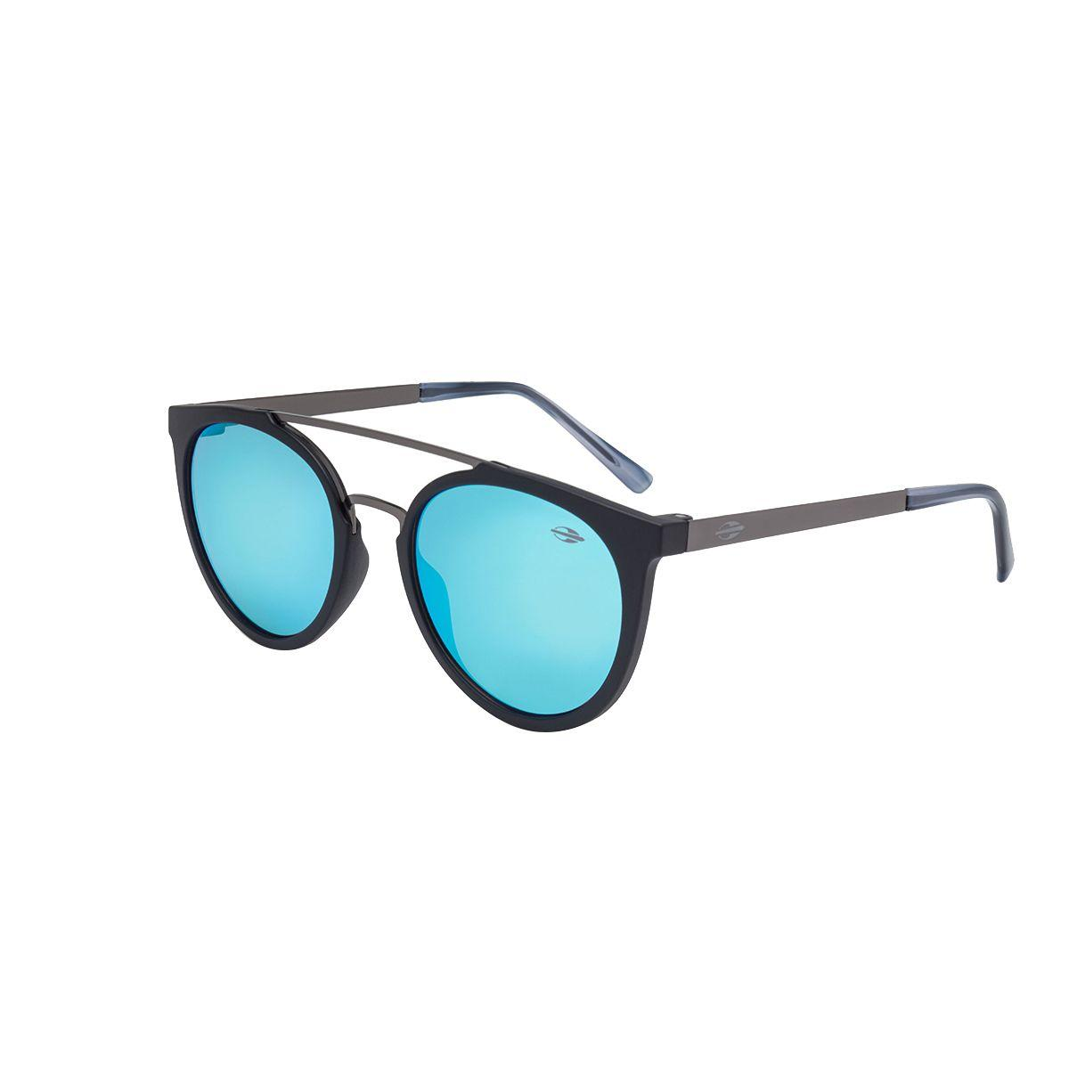 c745ac100b042 Óculos De Sol Los Angeles Preto Fosco Lente Espelhada Azul Mormaii R   349