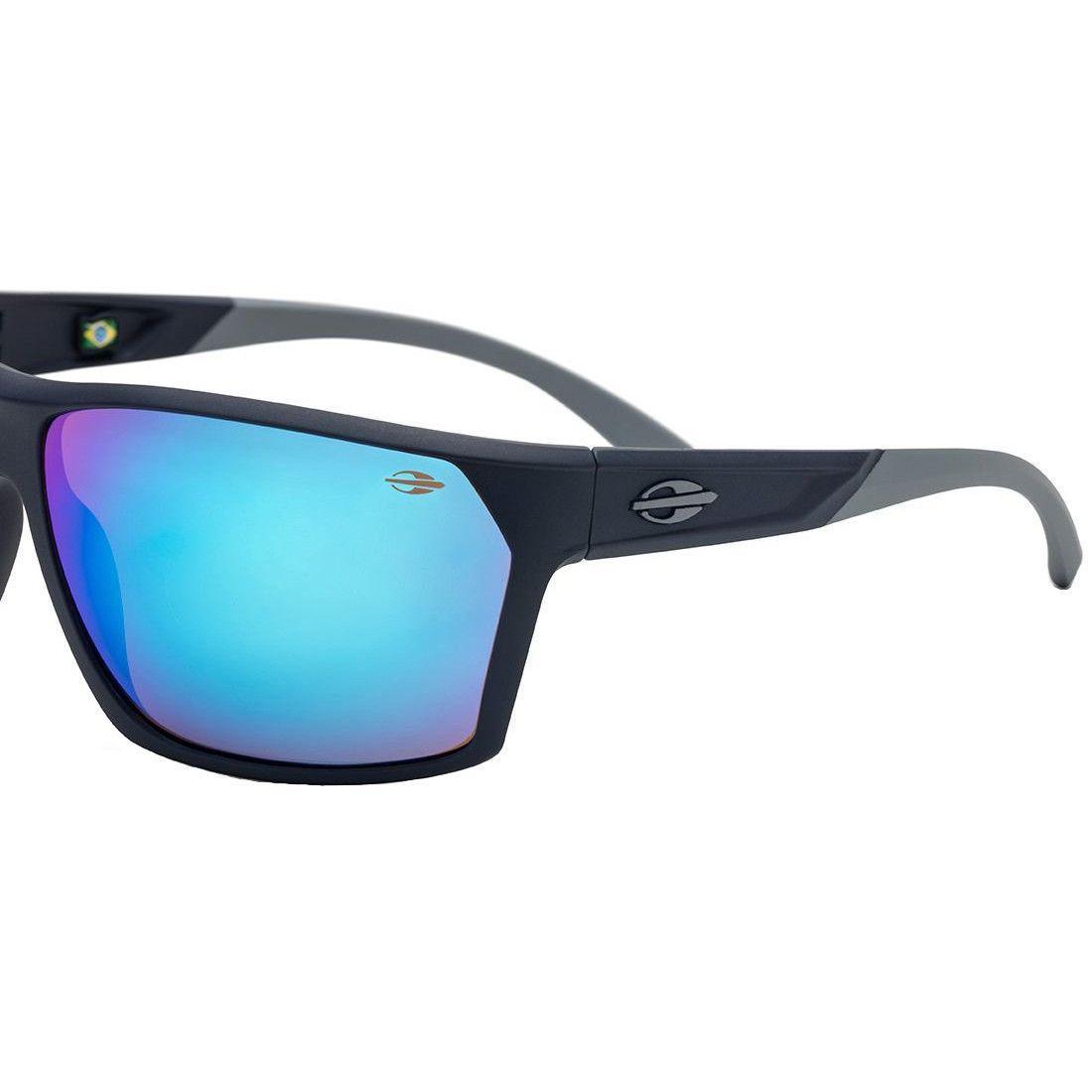 e380fe11545d7 Óculos de Sol Mormaii Storm Curvado Masculino M0079K3397 - Acetato Azul e Lente  Azul Espelhada R  320