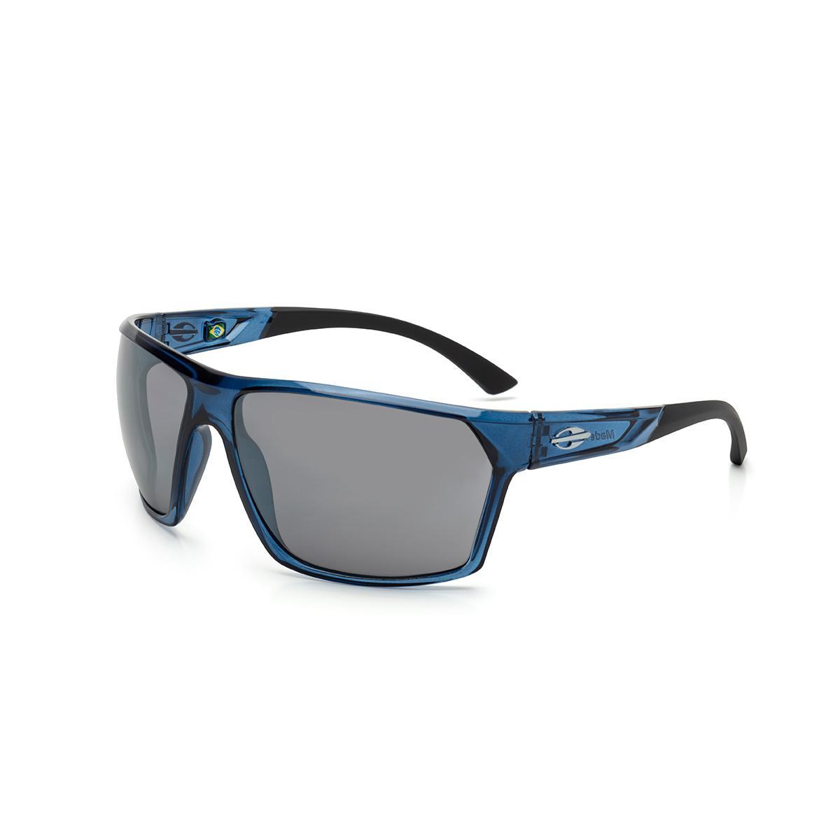 a1e6db30ea31c Óculos de Sol Mormaii STORM M0079 K03 09 Azul Lente Espelhada Prata Tam  56