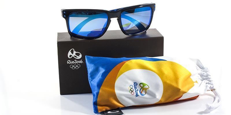 61287e1174bff Óculos de Sol Oakley Holbrook Olimpíadas (RIO2016) OO9102 Preto Lente Safira  Iridium Produto não disponível