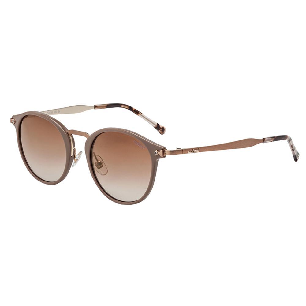 2d418405c6eb1 Óculos De Sol Proteção Uv Marrom Brilho Com Dourado Colcci Produto não  disponível