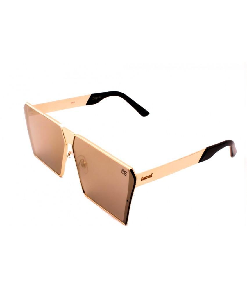 3a3e631ffbc95 Óculos de Sol Quadrado Drop mE Impact Espelhado Dourado - Drop me  acessorios R  229,90 à vista. Adicionar à sacola