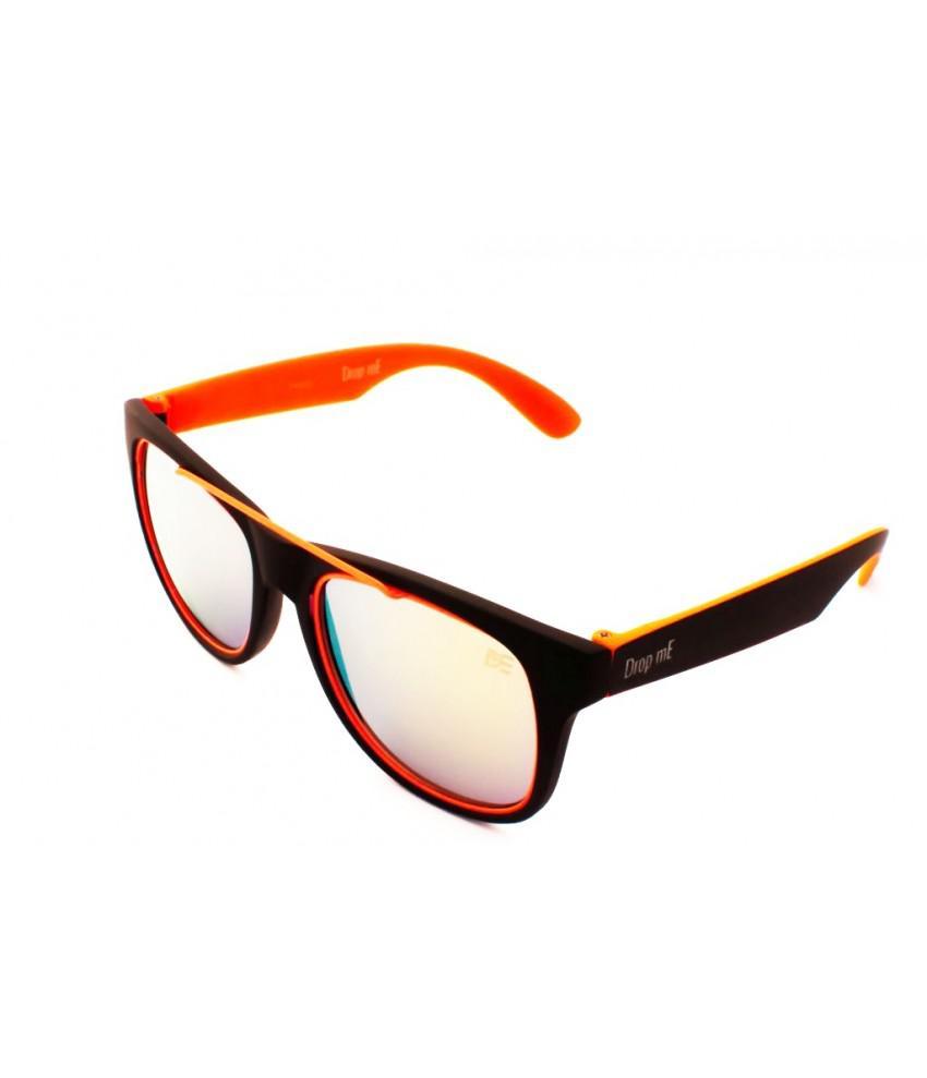 1832b6dce008d Oculos de sol quadrado drop me neon laranja lente espelhada multicor - Drop  me acessorios R  269