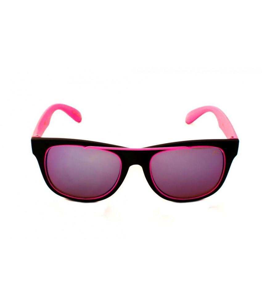 6fe0aa5b82d0f Oculos de sol quadrado drop me neon rosa lente espelhada azul claro - Drop  me acessorios R  269