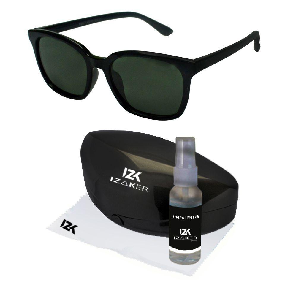 45ae99c06 Oculos De Sol Quadrado Polarizado Preto Masculino 706 - Izaker R$ 97,49 à  vista. Adicionar à sacola
