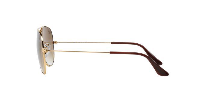 b283c61323d17 Óculos de Sol Ray Ban Aviador Clássico RB3025L 00151 Ouro Lente Marrom  Degradê Tam 55 - Ray-ban R  469