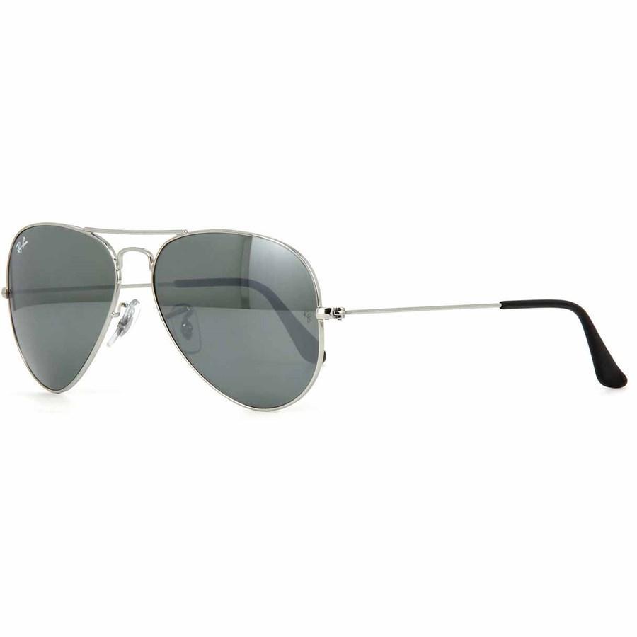Óculos de Sol Ray Ban Aviador Prata com Lente Cinza Semi Espelhada - Ray-Ban  - Óculos de Sol - Magazine Luiza 00170d4bff