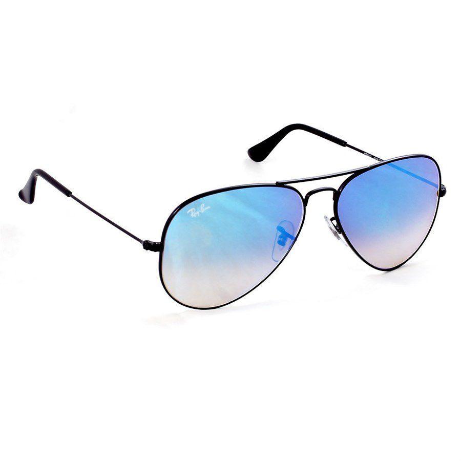 feb30696924e4 Óculos de Sol Ray Ban Aviador Preto com Lente Azul Espelhada - Ray-Ban  Produto não disponível