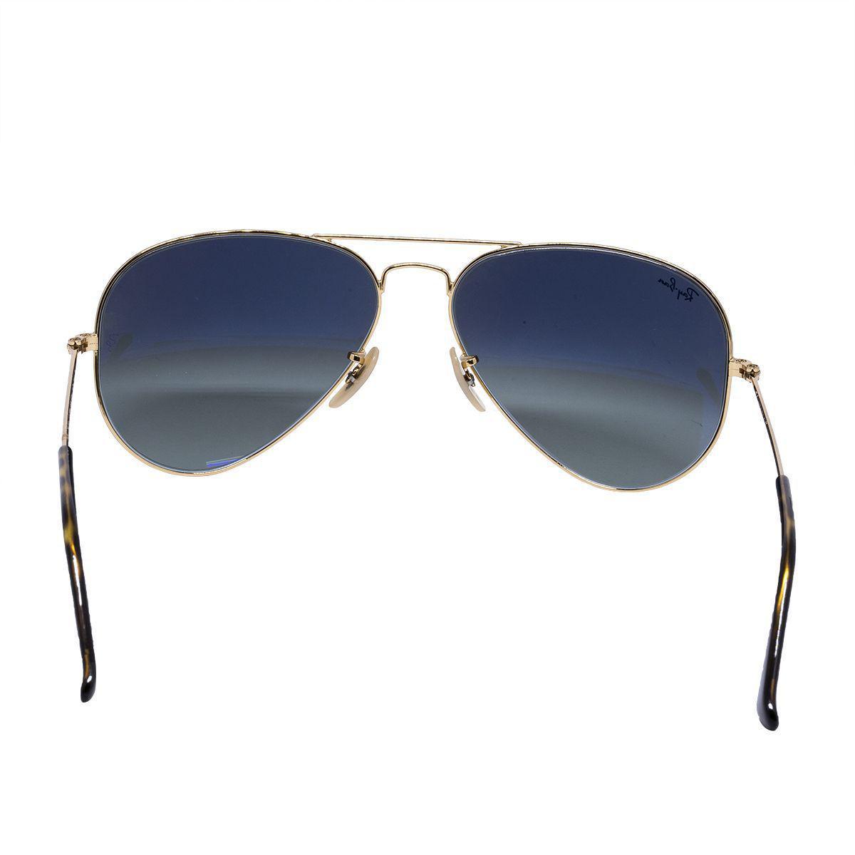 97ad33cc91900 Óculos de Sol Ray Ban aviador RB3025 - metal dourado