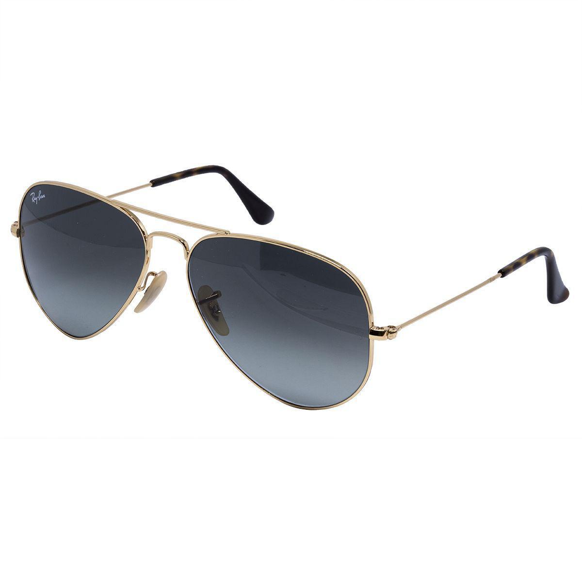 3919dc557f793 Óculos de Sol Ray Ban aviador RB3025 - metal dourado, lente cinza degradê. R   559,00 à vista. Adicionar à sacola