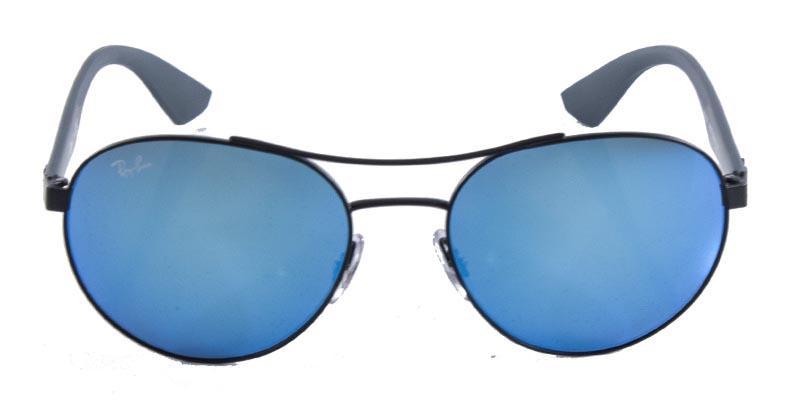 32307b70e619f Óculos de Sol Ray Ban Aviador RB3536 Preto Fosco Lente Azul Espelhada - Ray- ban Produto não disponível