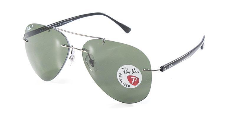 9a482847a856e Óculos de Sol Ray Ban Aviador RB8058 Prata Lente G15 Polarizado - Ray-ban R   569