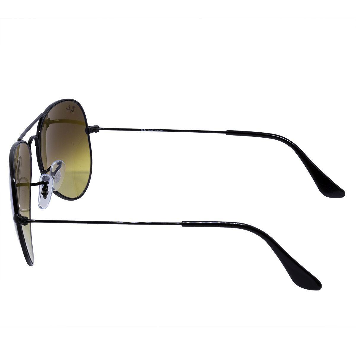 af88d29835ae1 Óculos de Sol Ray Ban Aviador Shiny Black RB3025L - Metal Preto, Lente Azul  Degradê Espelhada R  578,00 à vista. Adicionar à sacola