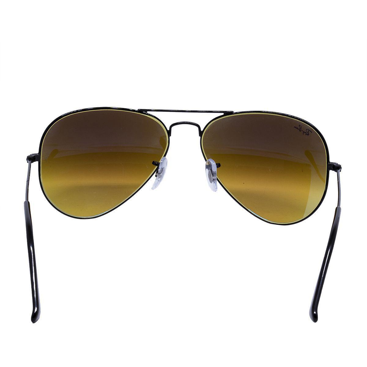 abea35c3e14a9 Óculos de Sol Ray Ban Aviador Shiny Black RB3025L - Metal Preto ...