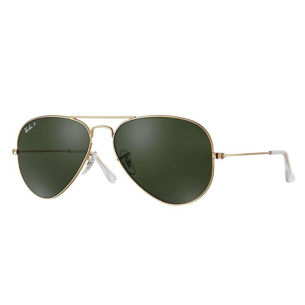 606d4280d3751 Óculos De Sol Ray Ban Aviator Rb3025L 001 58 62 Polarizado Dourado 62 R   431