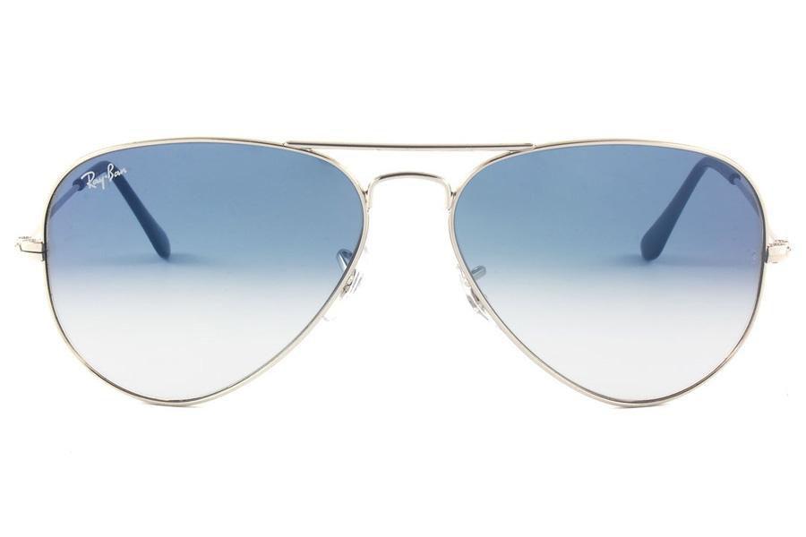 4d9bead66346c Óculos de Sol Ray Ban Aviator RB3025L 003-3F 58 Prata - Lente Azul Degradê  R  439