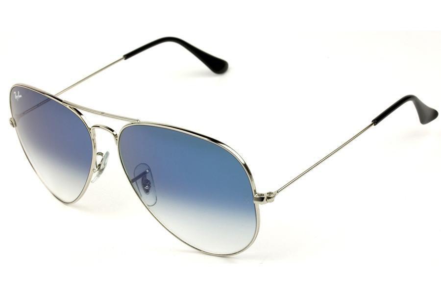 0e666ccc71323 Óculos de Sol Ray Ban Aviator RB3025L 003-3F 58 Prata - Lente Azul Degradê R   439