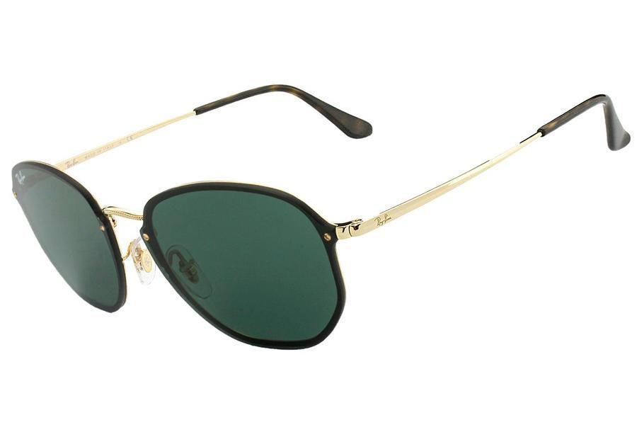 8ca212ed0d66c Óculos de Sol Ray Ban Blaze Hexagonal RB3579N 001 71 58 Dourado com Preto  R  590