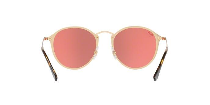 3a1e4bad363cd Óculos De Sol Ray Ban Blaze Round RB3574N 001E4 Ouro Lente Espelhada Rosa -  Ray-ban R  459,99 à vista. Adicionar à sacola