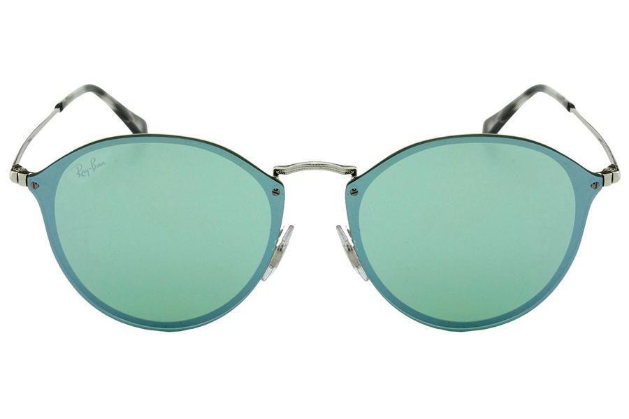 334f84119 Óculos de Sol Ray Ban Blaze Round RB3574N 003 30/59 Prata Espelhado Verde  Produto não disponível