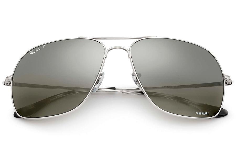 f52cdd4e8 Óculos de Sol Ray Ban Chromance RB3587CH 003-5J/61 Prata - Cinza Espelhado  Polarizado R$ 800,00 à vista. Adicionar à sacola