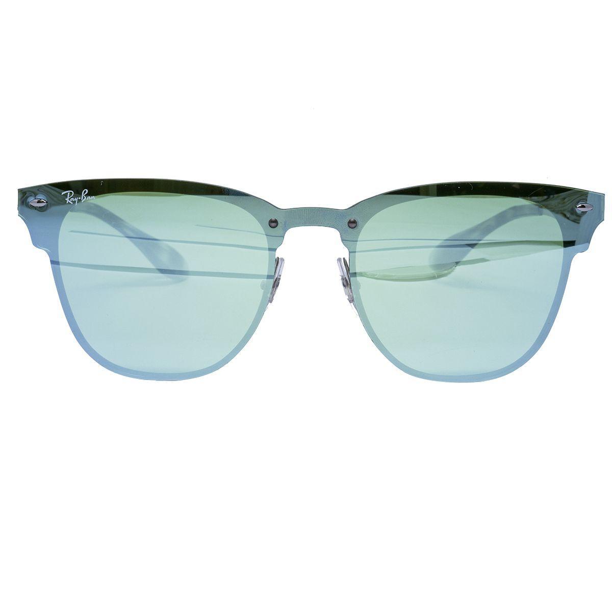 e5c061489f7bf Óculos de Sol Ray Ban Clubmaster Blaze Silver - Metal Prata e Lente Azul  Espelhada R  654,00 à vista. Adicionar à sacola