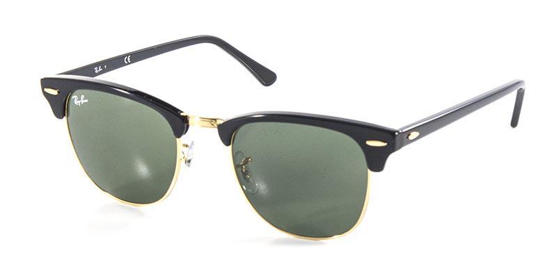 353f669552fb0 Óculos de Sol Ray Ban Clubmaster RB3016 Preto Ouro Lente Tam 51 - Ray-ban  R  399