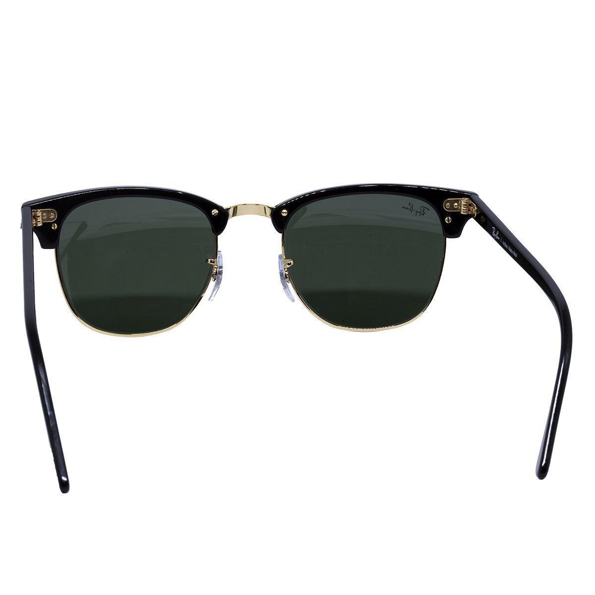 088e85e046084 Óculos de Sol Ray Ban Clubmaster RB3016L CW0365 - metal dourado acetato  preto