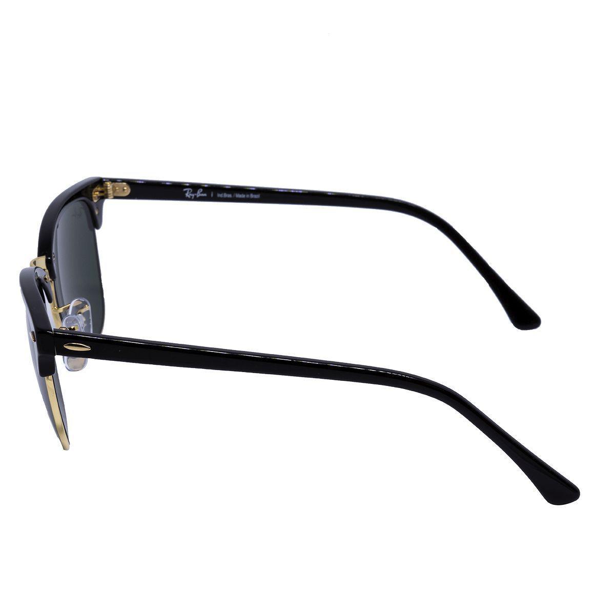 b03c0d40ff088 Óculos de Sol Ray Ban Clubmaster RB3016L CW0365 - metal dourado acetato  preto, lente cinza crystal R  526,00 à vista. Adicionar à sacola