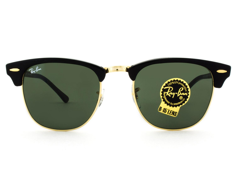 ff4fb6e861418 Óculos de Sol Ray-Ban Clubmaster RB3016L W0365 - Óculos de Sol ...