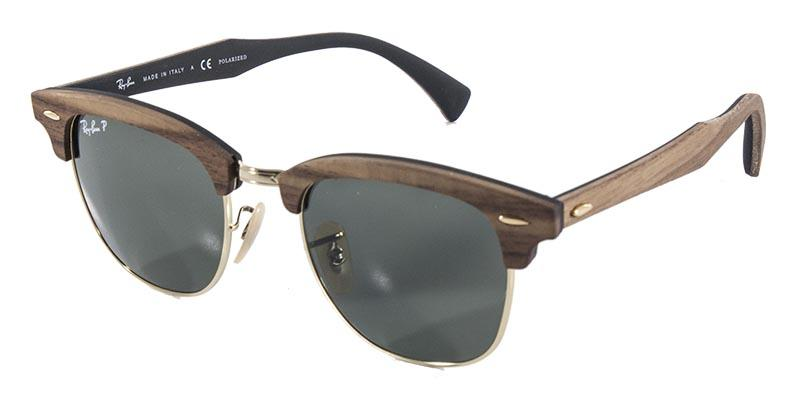 e19a5e9cf1dac Óculos De Sol Ray Ban Clubmaster Wood Rb3016 Madeira Ouro Lente Polarizada  - Ray-ban Produto não disponível