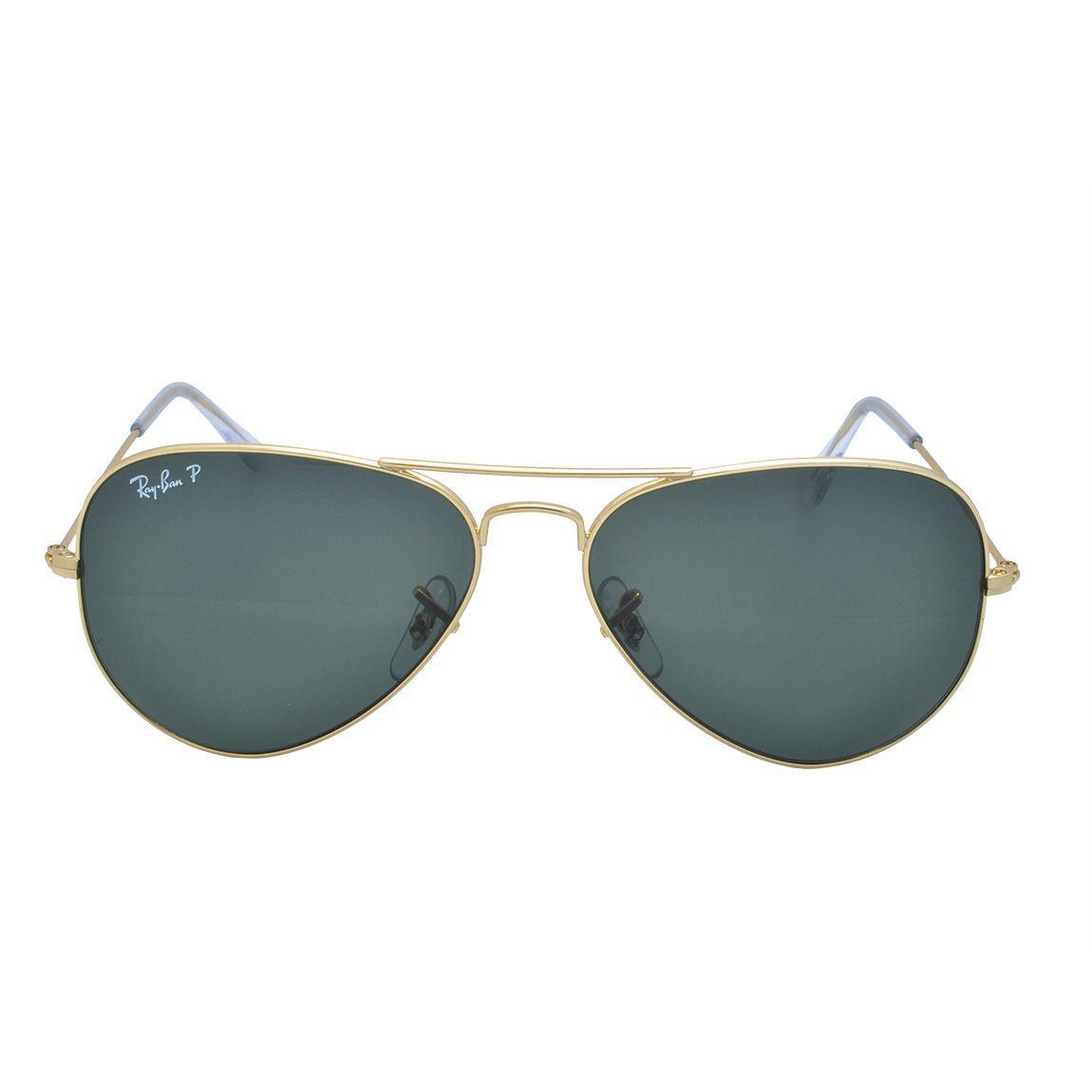 Óculos de Sol Ray Ban Feminino Aviador Polarizado RB3025L 001 58 - Metal  Dourado R  635 1f7c28cfb7833
