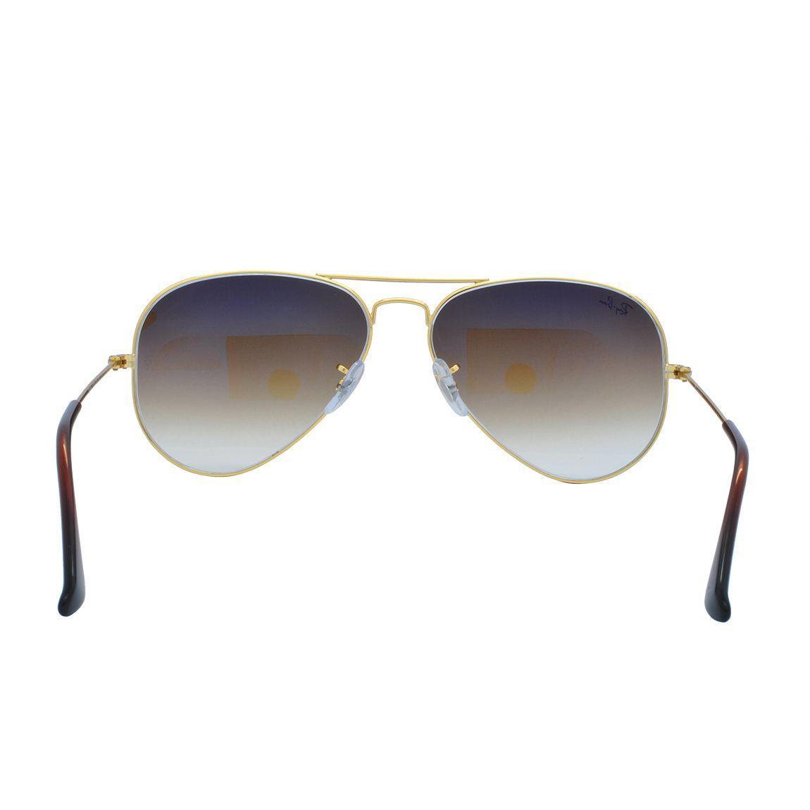 Óculos de Sol Ray Ban Feminino Aviador RB3025L C001 51 - Metal Dourado,  Lente Marrom Degradê R  559,00 à vista. Adicionar à sacola f5e33b0d98