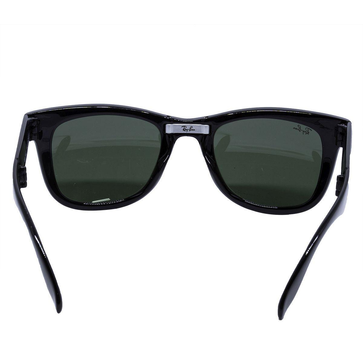 4c6ab6c53 Óculos de Sol Ray Ban Folding Wayfarer Black RB4105 - acetato preto, lente  G15 R$ 581,00 à vista. Adicionar à sacola
