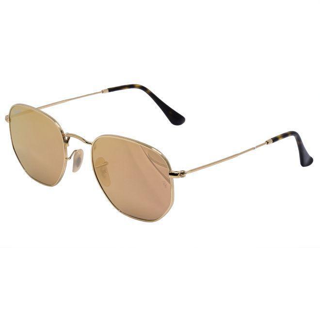 e62c81735aa01 Óculos de Sol Ray Ban Hexagonal Gold RB3548N - Metal Dourado, Lente Rosé  Espelhada R  506,00 à vista. Adicionar à sacola