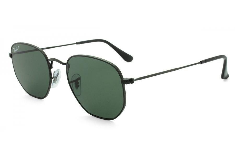 29a5be3b0 Óculos de Sol Ray Ban Hexagonal RB3548N 002/58/54 Preto - Lente Verde  Polarizada R$ 478,20 à vista. Adicionar à sacola
