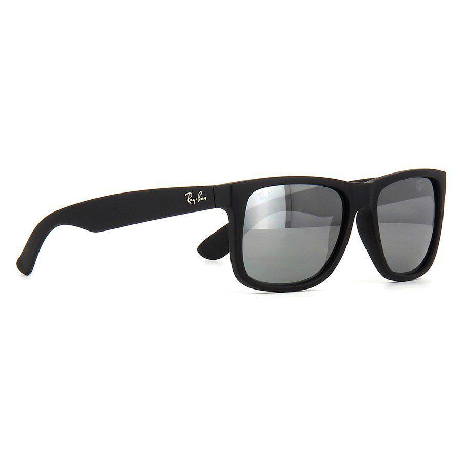 8aa2198352f2e ... canada Óculos de sol ray ban justin preto com lente cinza espelhada ray  ban produto no ...