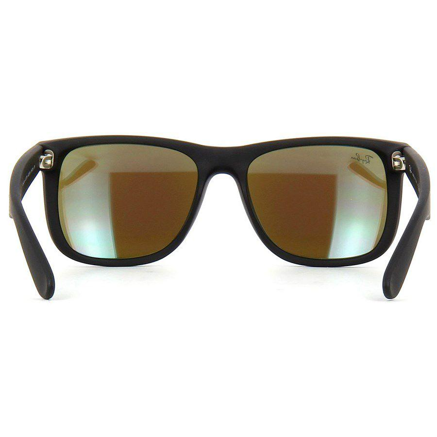 d713b9461d013 ... low price Óculos de sol ray ban justin preto fosco com lente azul  espelhada ray ban