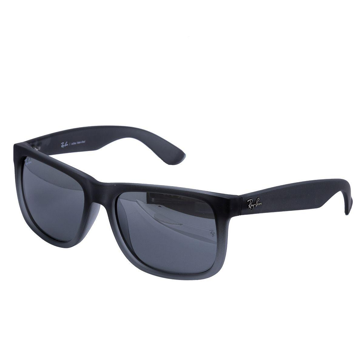 c98cd16757f99 Óculos de Sol Ray Ban Justin RB4165L 852 88 - Acetato Preto Fosco, Lente  Cinza R  531,00 à vista. Adicionar à sacola
